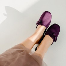 Jane satin aubergine