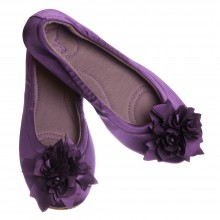 Grace satin aubergine